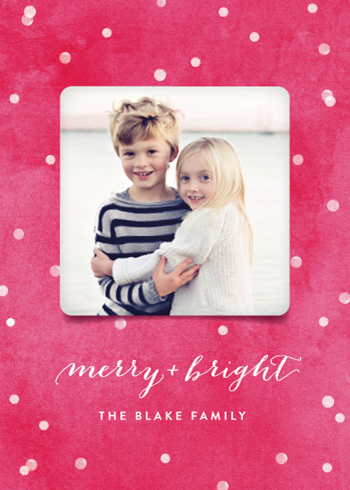 holiday photo cards - Snowy and Bright by Hooray Creative