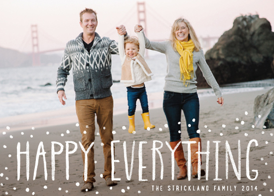 holiday photo cards - Happy Everything! by Hooray Creative