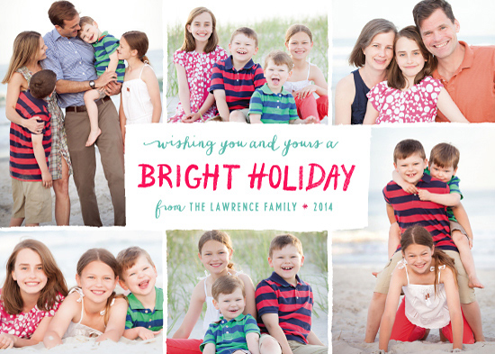 holiday photo cards - Bright Holiday by Hooray Creative