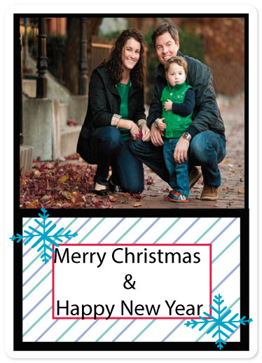 holiday photo cards - Joy of Family by Kristin