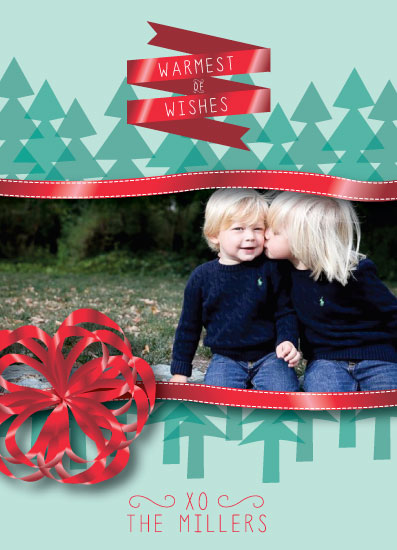 holiday photo cards - Ribbons And Trees by Lindsay Hanson