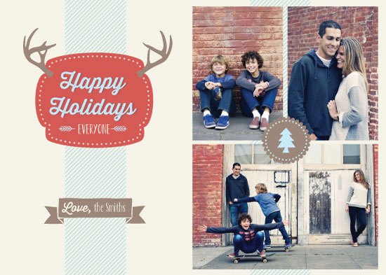 holiday photo cards - Vintage Antlers by Leila Rookstool