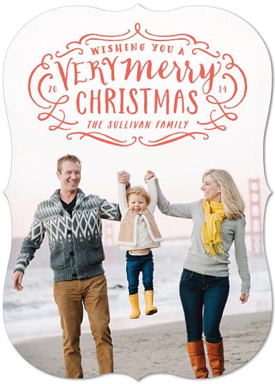 holiday photo cards - Very Merry Flourish by Hooray Creative