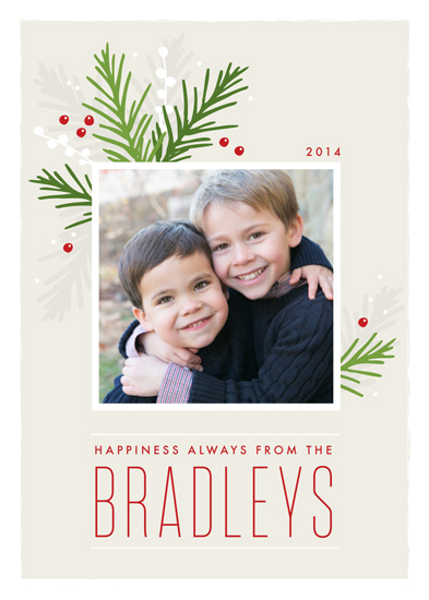holiday photo cards - Evergreen Sprigs by Jessica Williams