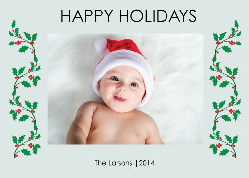 holiday photo cards - One Big Picture Happy Holidays card by Irmak Berktas