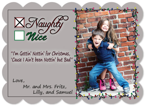 holiday photo cards - Naughty or Nice by AnnaGlace