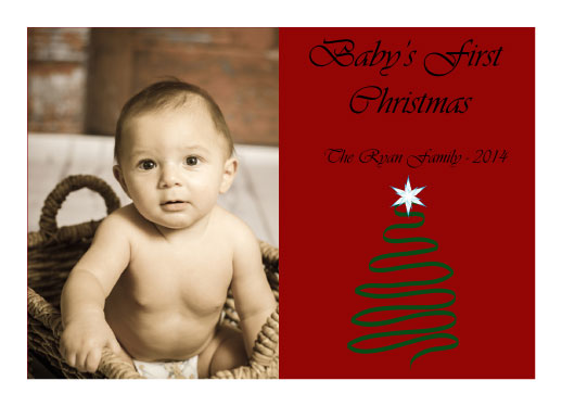 holiday photo cards - Babys First Christmas by Trisha Goldstrom