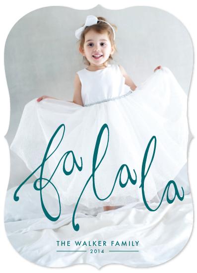 holiday photo cards - Fa La La Holiday by Laura Jett Walker