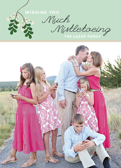 holiday photo cards - Much Mistletoeing by Erika Firm