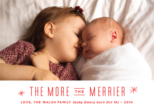 holiday photo cards - The More, The Merrier by Carolyn MacLaren
