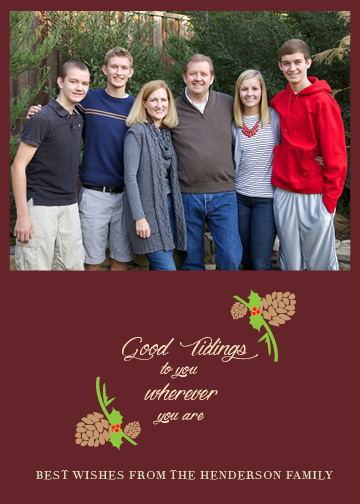 holiday photo cards - Good Tidings to You by Rosewater Designs