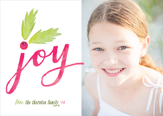 holiday photo cards - Botanical Joy by Hooray Creative