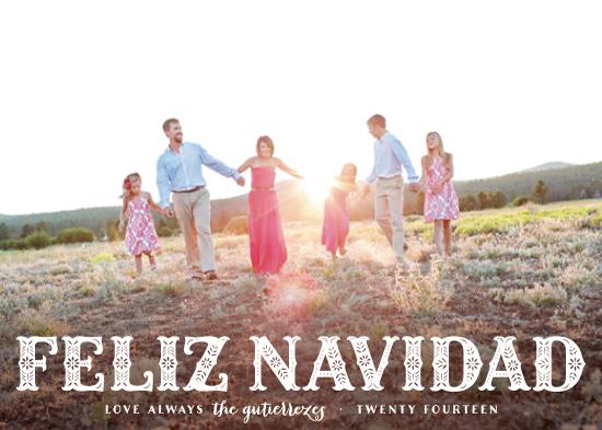holiday photo cards - Feliz Navidad! by Hooray Creative