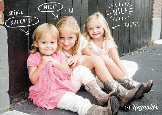 holiday photo cards - Naughty or Nice? by Hooray Creative