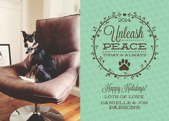 holiday photo cards - Unleash Peace by Megan Acelar
