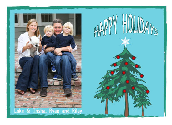 holiday photo cards - Holiday card with ornaments by Trisha Goldstrom