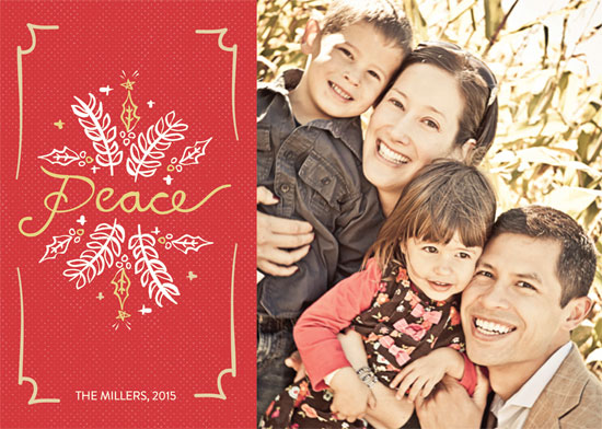 holiday photo cards - Peace & Holly by Reginald Whicker