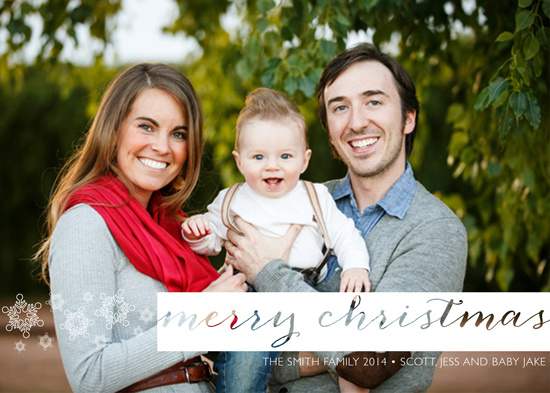 holiday photo cards - Modern Snow by Megan Acelar
