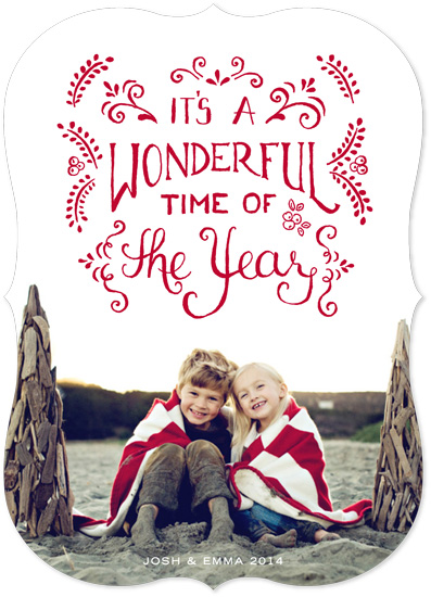 holiday photo cards - It's A Wonderful Time by Yvette Slaney
