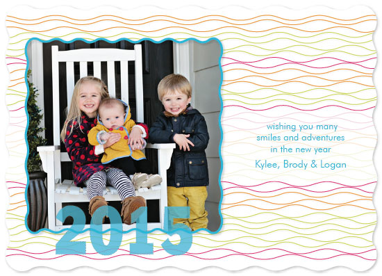 holiday photo cards - colored waves by Megan Spinder