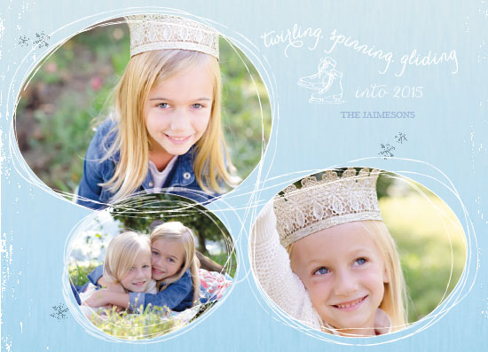 holiday photo cards - ice princesses by Megan Spinder