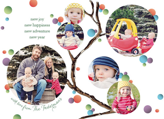 holiday photo cards - tree circles by Megan Spinder