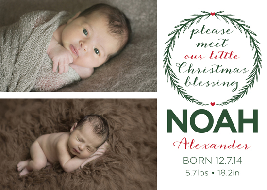 holiday photo cards - Little Blessing by Megan Acelar