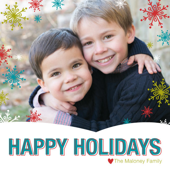 holiday photo cards - I'm Dreaming of a Colorful Christmas by Peppermill Creative
