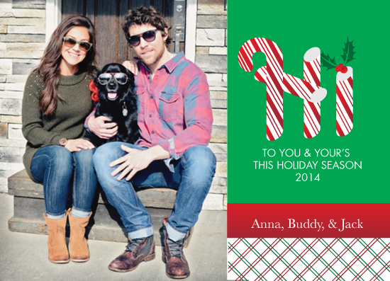 holiday photo cards - Candy-Hi by Christina Pena Pittre