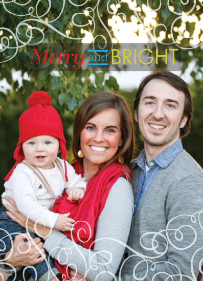 holiday photo cards - Merry and Bright Swirls by Christina Pena Pittre