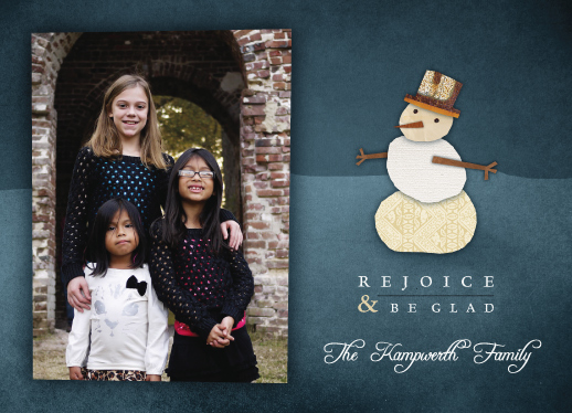 holiday photo cards - Recycled Snowman by Kevin Kampwerth