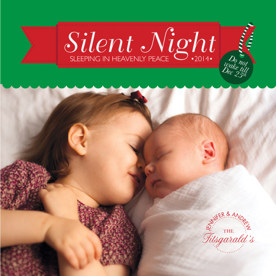 holiday photo cards - Sleeping Silent Night by Christina Pena Pittre