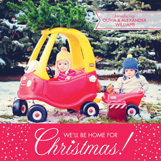 holiday photo cards - Home for Christmas by Christina Pena Pittre