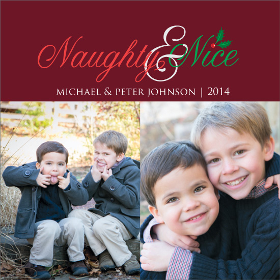 holiday photo cards - Naughty and Nice by Christina Pena Pittre
