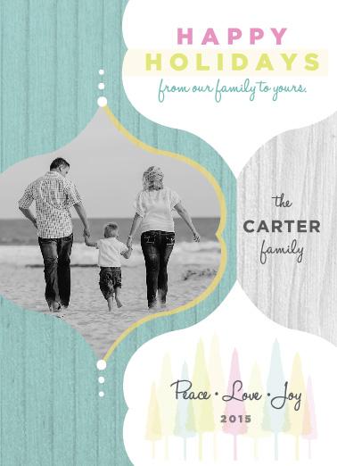 holiday photo cards - Bright Holiday Card by Cara Van Valkenburg