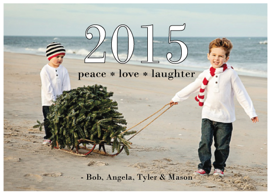 holiday photo cards - Peace Love Laughter 2015 by Jaclyn Del Vacchio