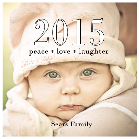 holiday photo cards - Peace Love & Laughter Squared by Jaclyn Del Vacchio