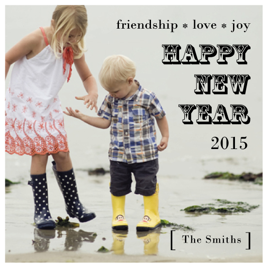 holiday photo cards - Friendship * Love * Joy by Jaclyn Del Vacchio