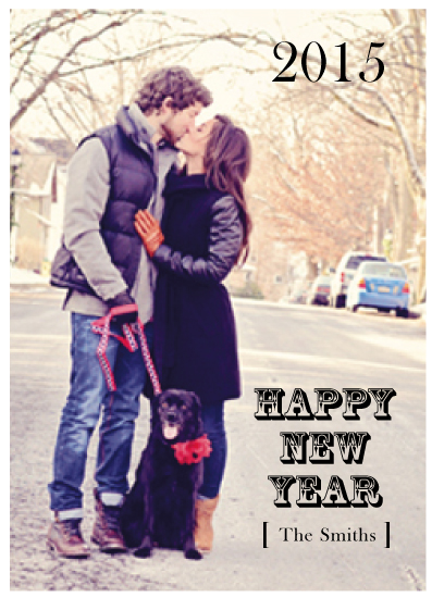 holiday photo cards - New Year's Kiss Out of the Ordinary by Jaclyn Del Vacchio