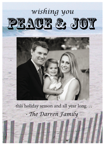 holiday photo cards - Peace and Joy This Holiday Season by Jaclyn Del Vacchio