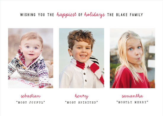 holiday photo cards - Mostly Merry! by Hooray Creative
