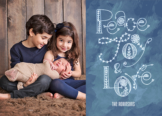 holiday photo cards - Blossoming Peace Joy Love by Rachel Mense