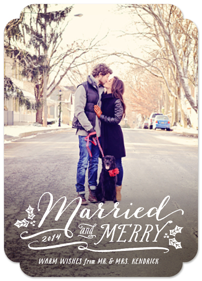 holiday photo cards - Married and Merry by Hooray Creative