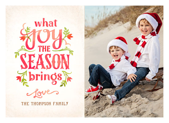holiday photo cards - What Joy by Rebecca Daublin