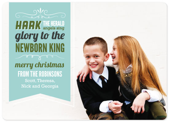 holiday photo cards - Hark the Herald by masonry