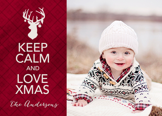 holiday photo cards - Keep Calm & Love Xmas by Rachel Mense