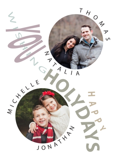 holiday photo cards - Simple Holiday Banner by Jordan Arts