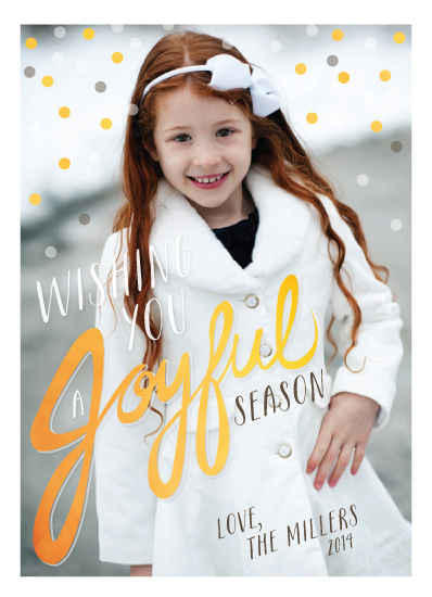 holiday photo cards - Handwritten Joyful by Little Bees Graphics