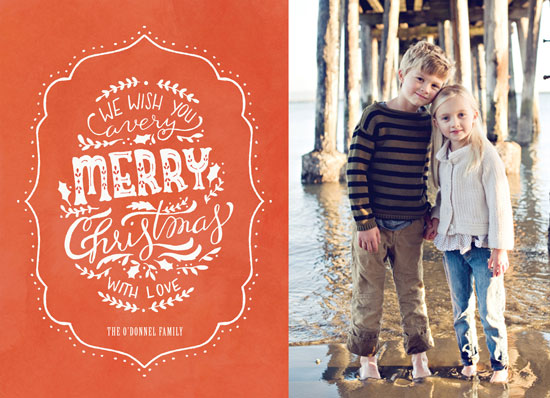 holiday photo cards - Hand-lettered Very Merry Christmas by Cassidy Demkov