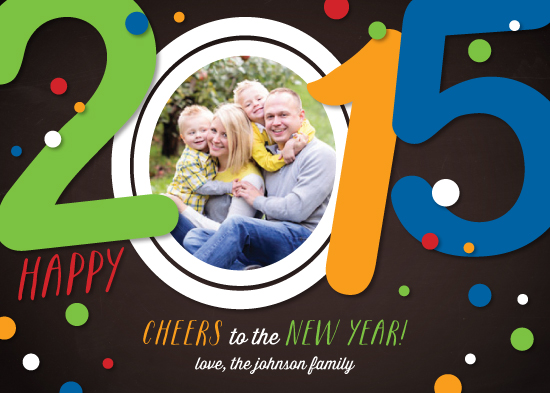 holiday photo cards - Slanted CHEERS by Little Bees Graphics